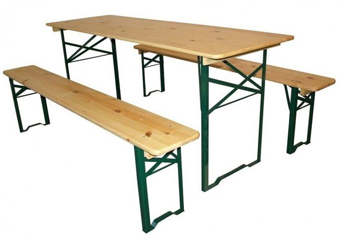 půjčujeme lavice stoly pivní sety